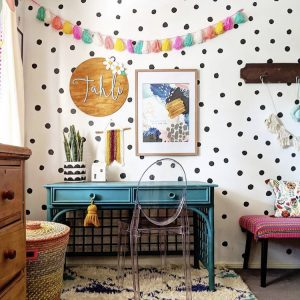 hand drawn dot wall decals