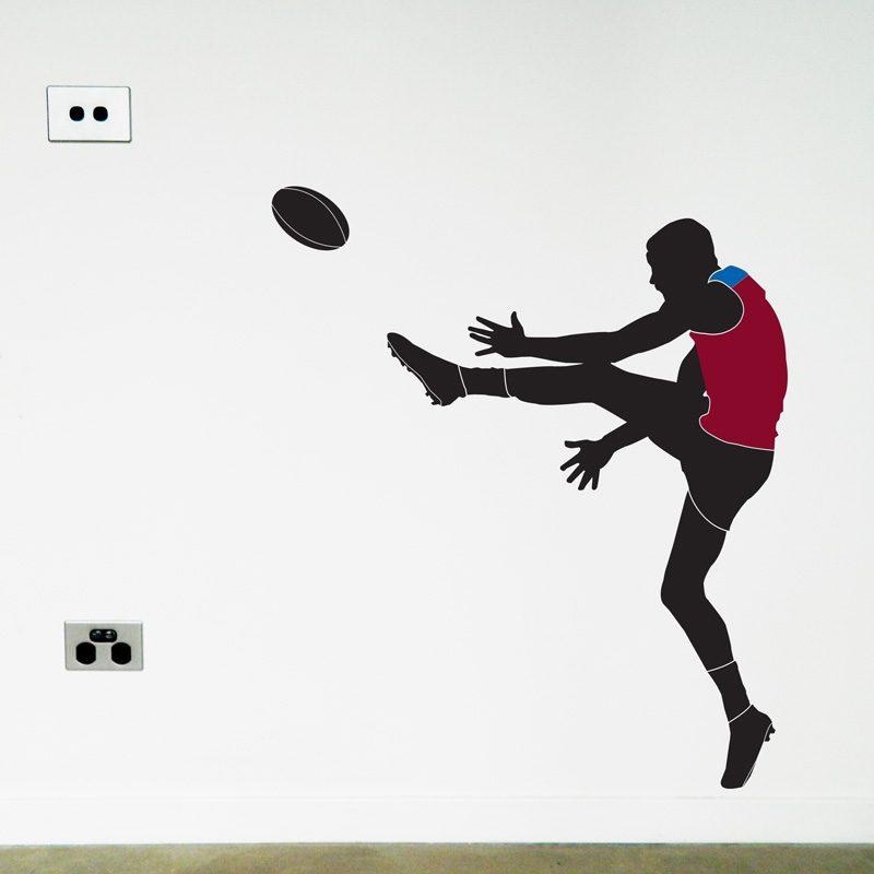 australian football player wall sticker brisbane lions