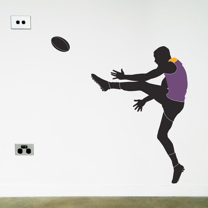 australian football player brisbane lions wall sticker
