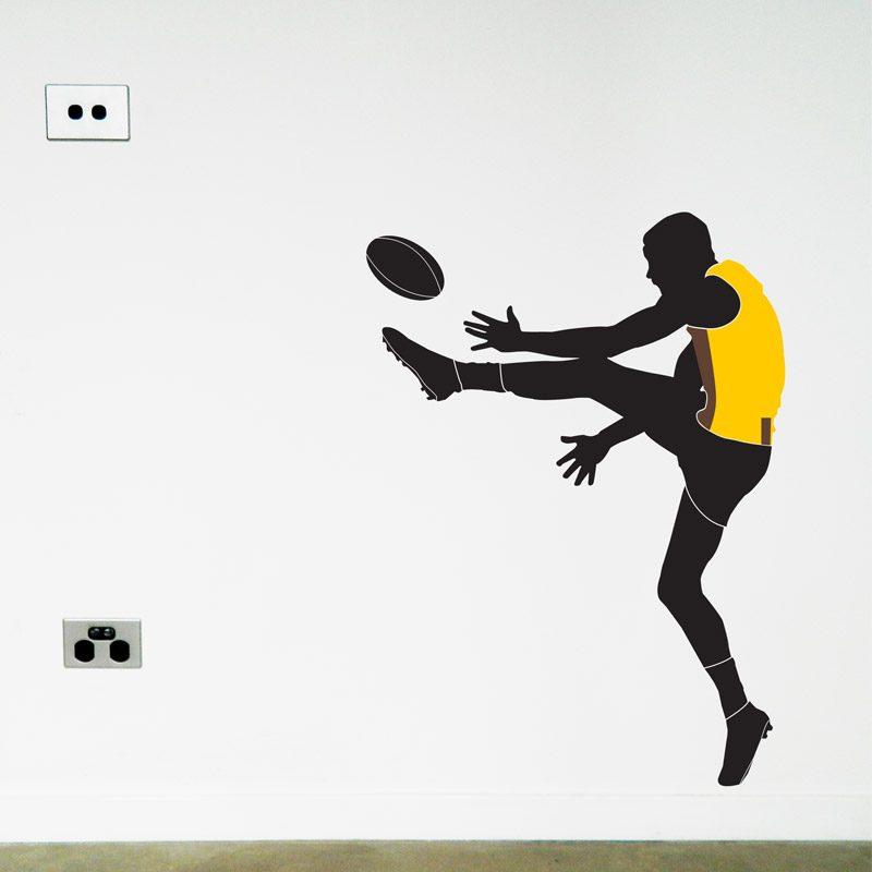 australian football player hawthorn wall sticker