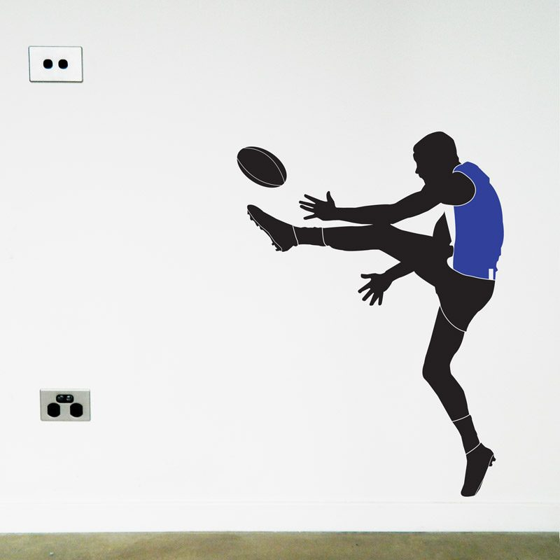 afl footy player north melbourne wall sticker