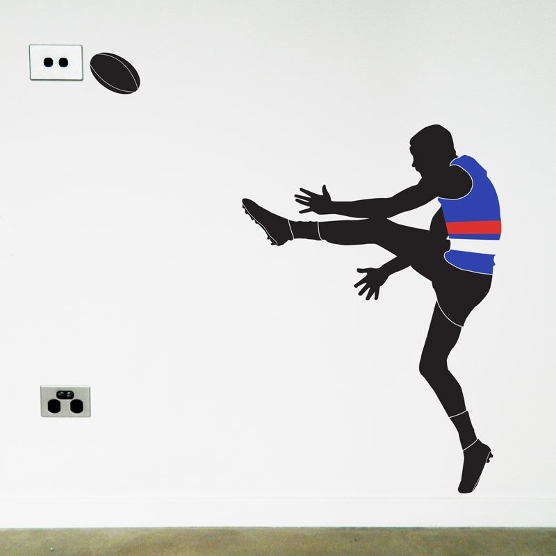 afl footy player western bulldogs wall sticker