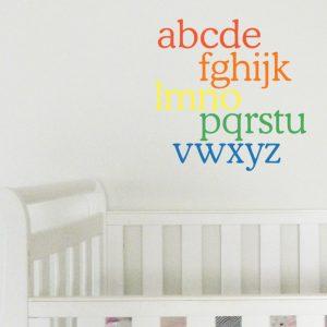 alphabet rainbow wall sticker