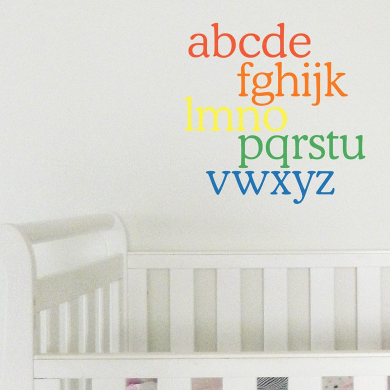 alphabet rainbow wall sticker