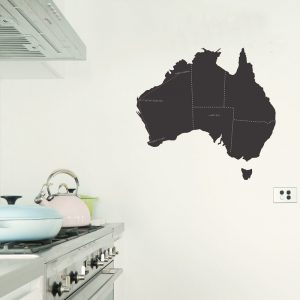 Australia Map Chalkboard Wall Sticker map of australia chalkboard kitchen decor