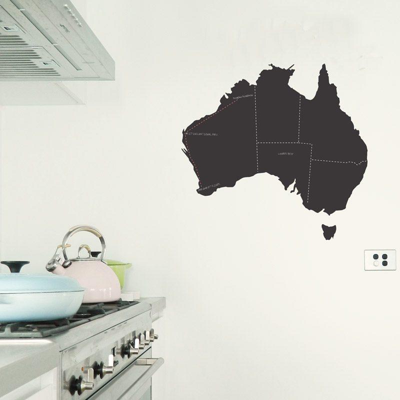 australia map chalkboard wall sticker | made in australia