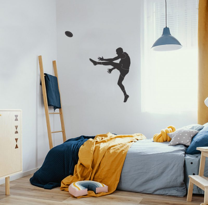 aussie football player wall decal
