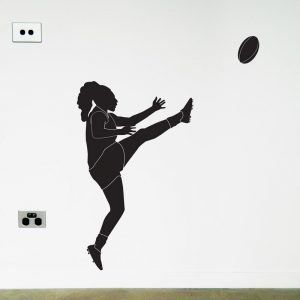 awfl womens Australian Football Player wall decal