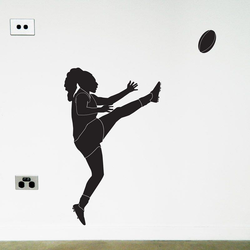 AFLW Australian Football Player Wall Sticker awfl womens Australian Football Player wall decal