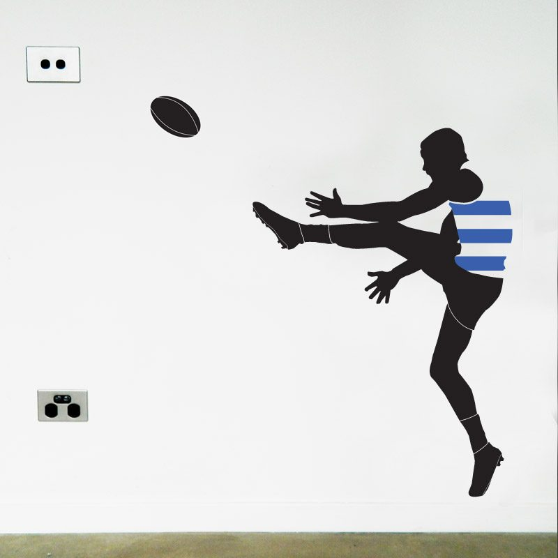 Geelong Football Player wall decal