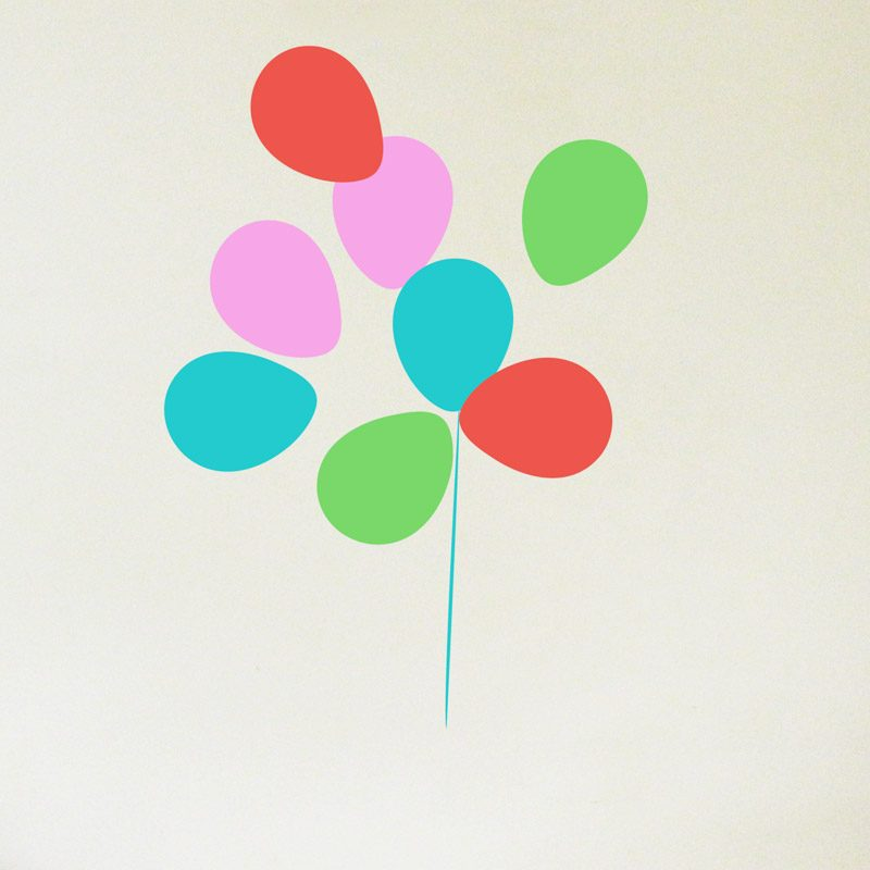 bright bunch of balloons wall decals