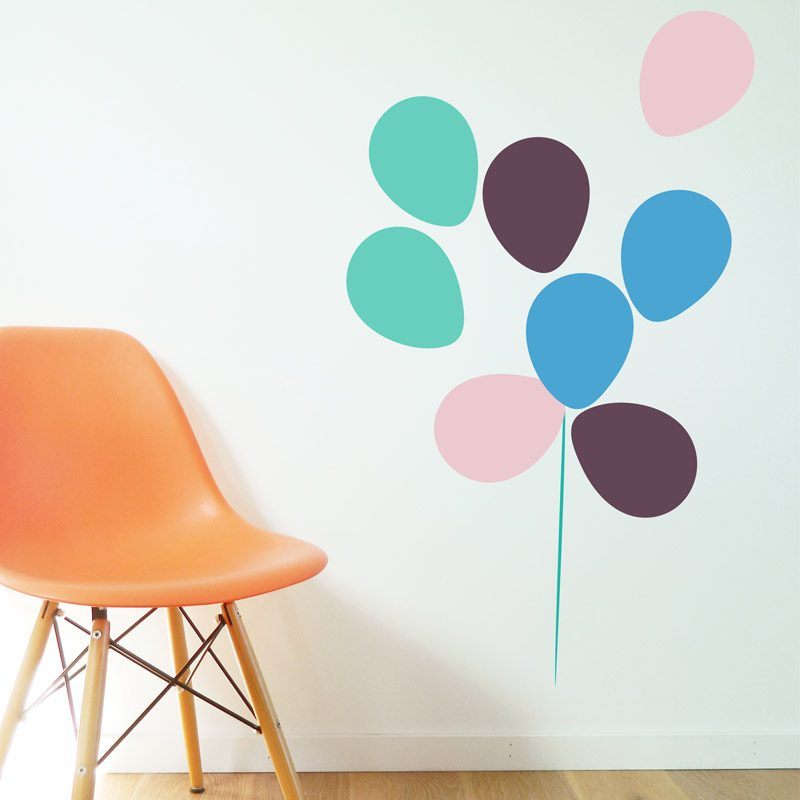 Balloons Wall Stickers pastel bunch of balloons wall decals