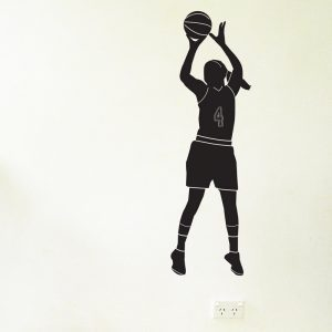female basketball player wall decal