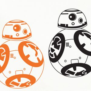 BB-8 wall sticker star wars bb8 wall sticker bedroom