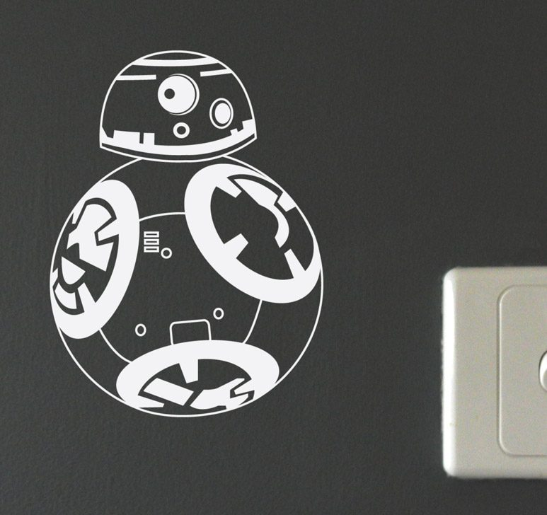 bb8 wall decal white bedroom decor