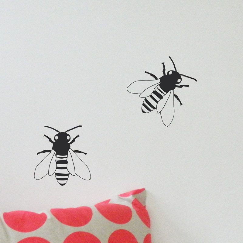 black bumble bees kids walls