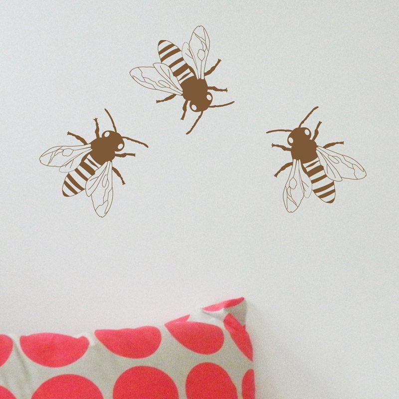 metallic bees kids walls