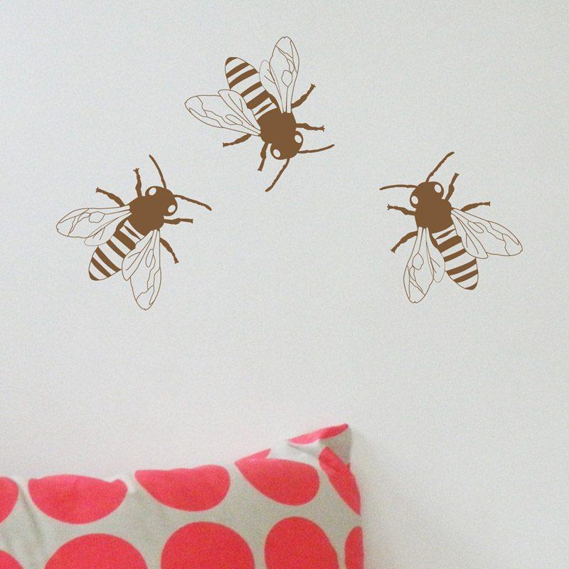 metallic bees kids walls