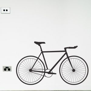 Bicycle Fixie Wall Sticker road bike single speed wall decal