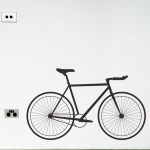 road bike single speed wall decal