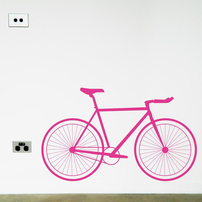 racer bike wall decal