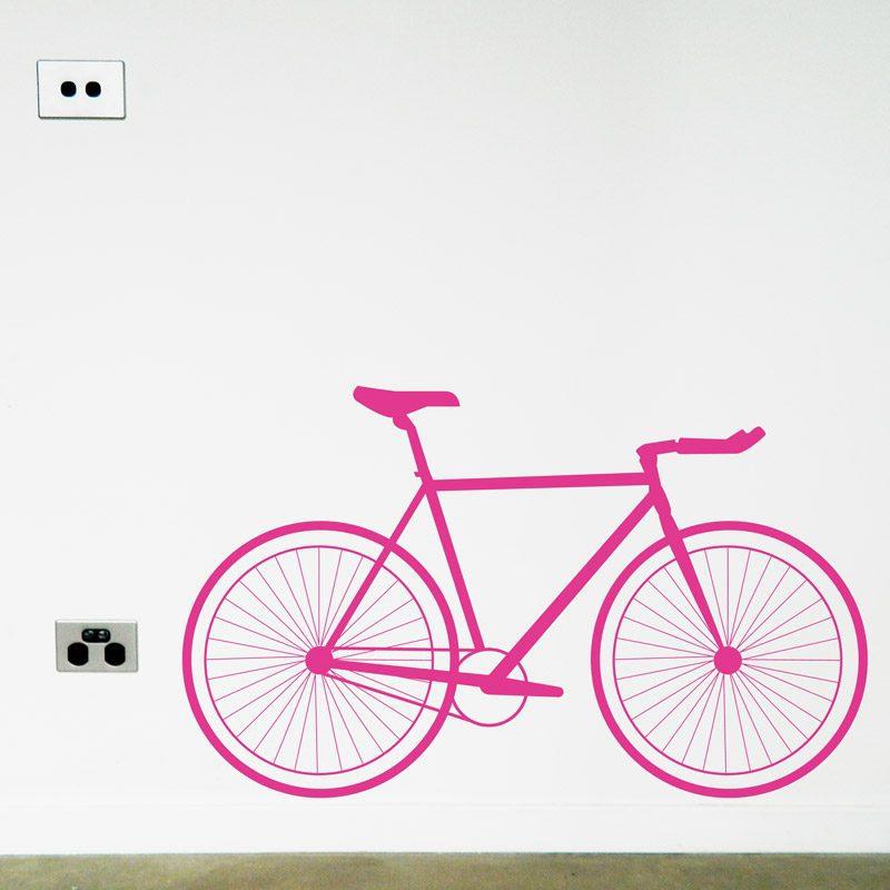 racer bike wall decal