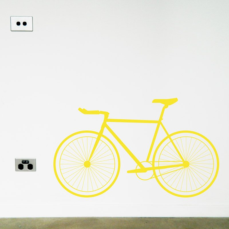 road bike wall art decal