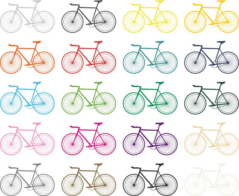 bicycle wall stickers colours