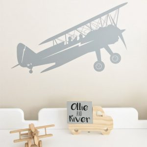 biplane wall sticker boys bedroom