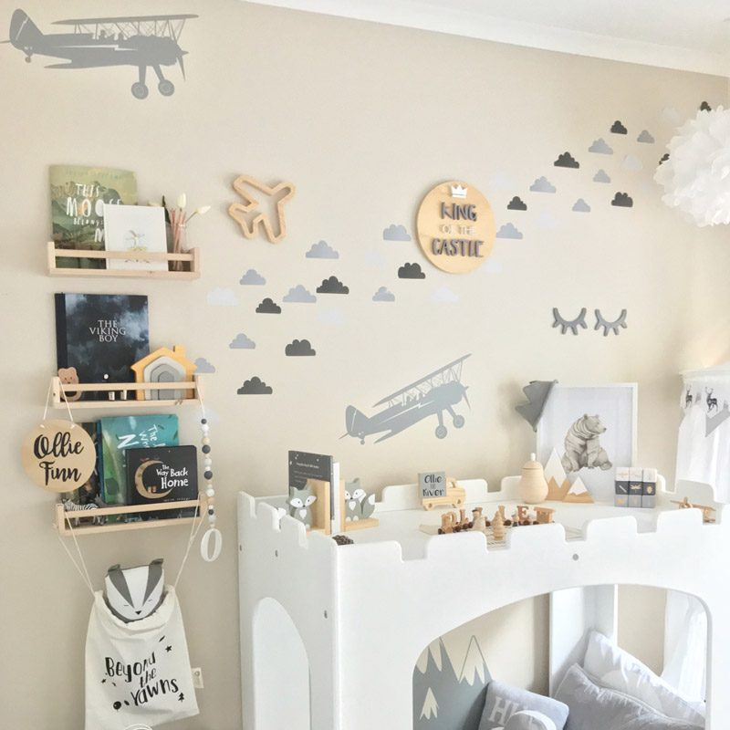 biplane wall sticker bedroom aeroplane decal