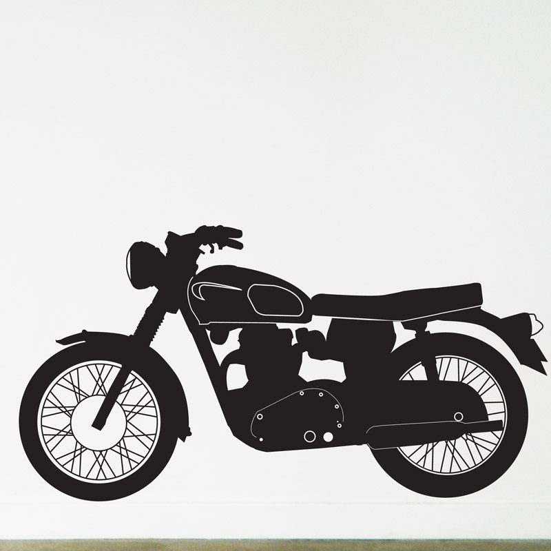 vintage motorcycle wall sticker triumph british motorbike wall decal