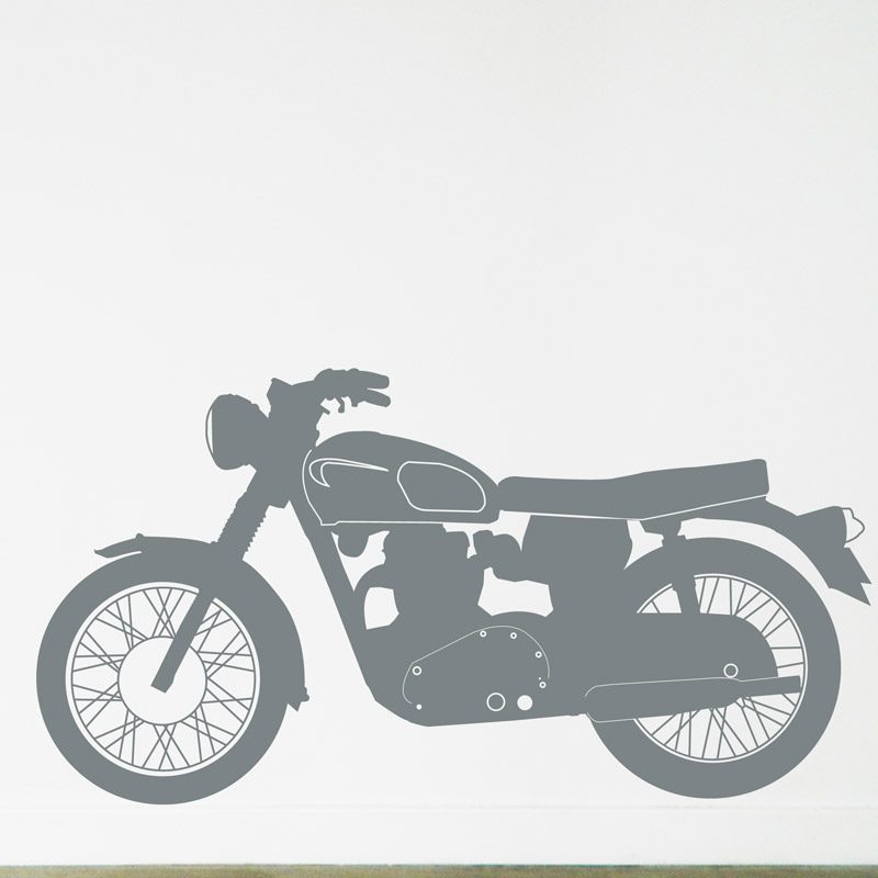 Triumph motorcycle wall art