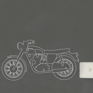 vintage motorcycle outline wall sticker triumph motorcycle wall decal