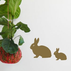 bunny rabbit family wall decal