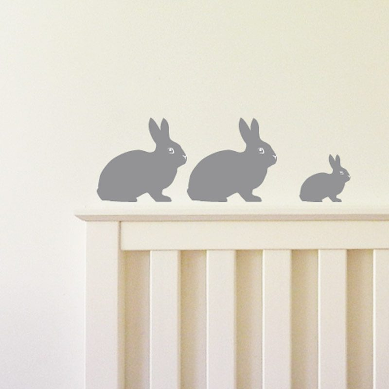 silver bunny rabbit kids bedroom