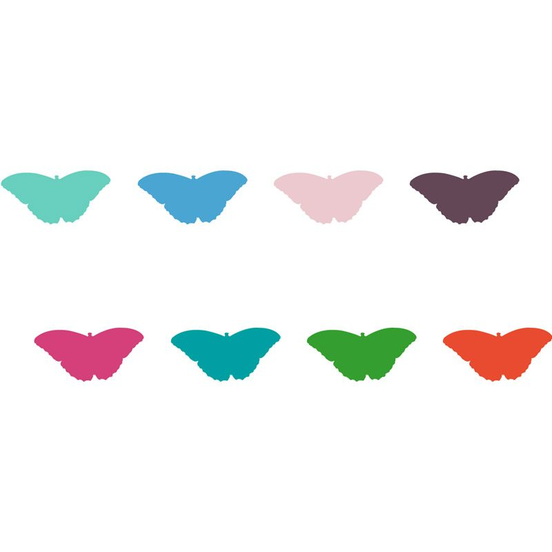 colourful butterflies for walls
