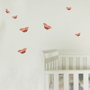 Butterflies Wall stickers rose gold nursery butterfly wall decals