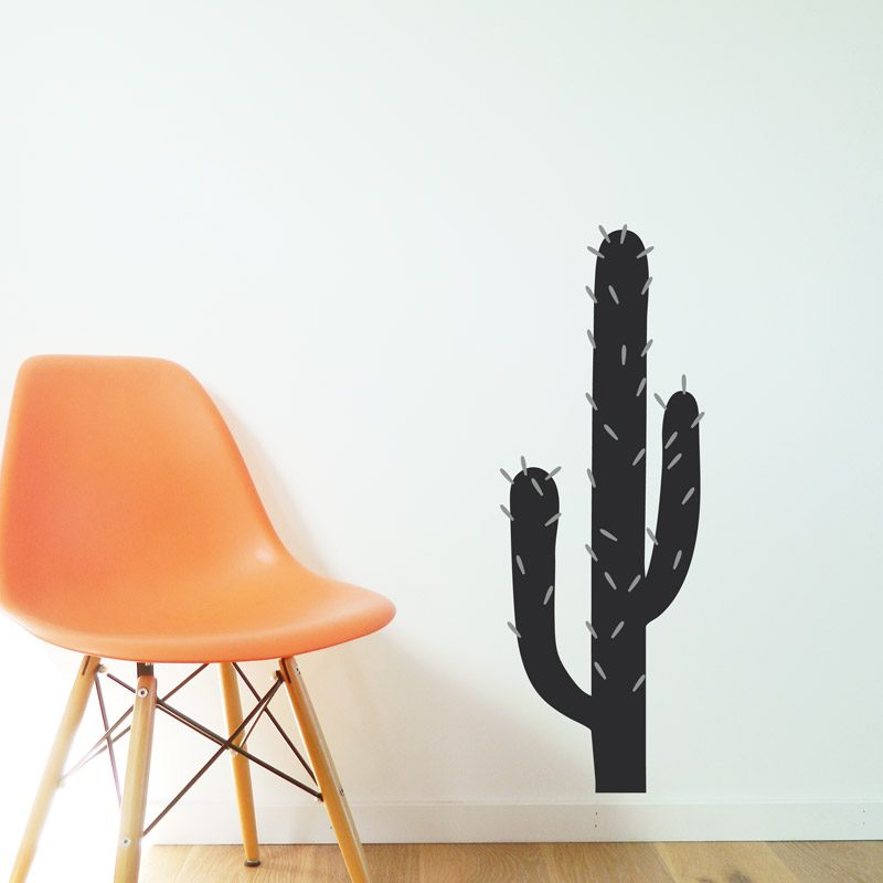 black cacti wall decal