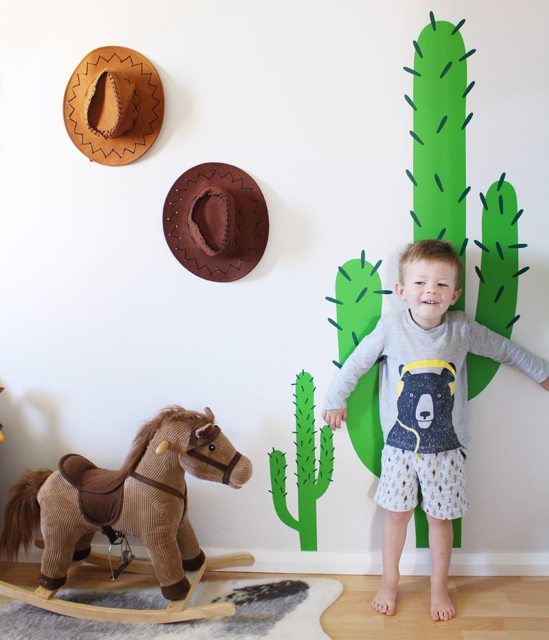 Kids Walls Cactus Wall Sticker Kid's Space Bedroom