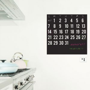 calendar chalkboard wall sticker kitchen decor chalkboard organiser