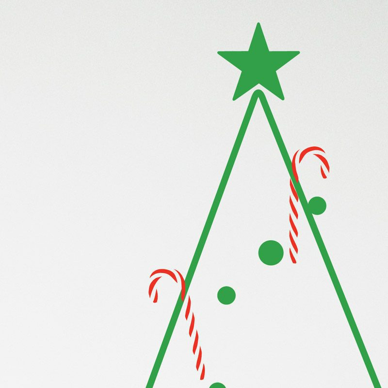 transparent candy cane wall stickers