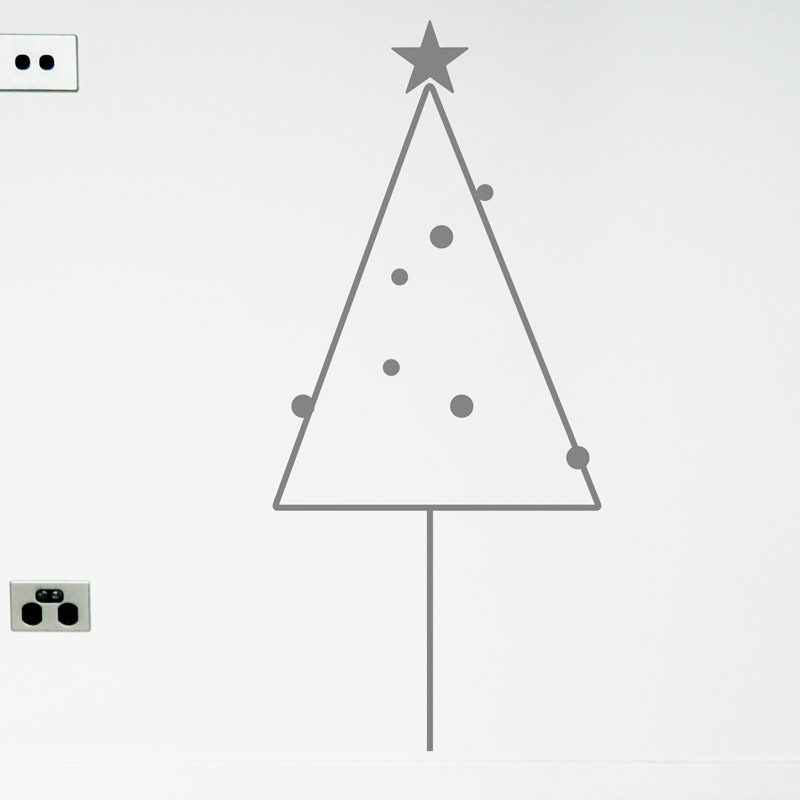 silver christmas tree decal