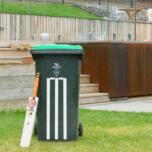 Cricket Stumps Wall Sticker Backyard Cricket Stumps Rubbish Bin