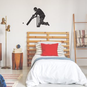 cricketer wall decal