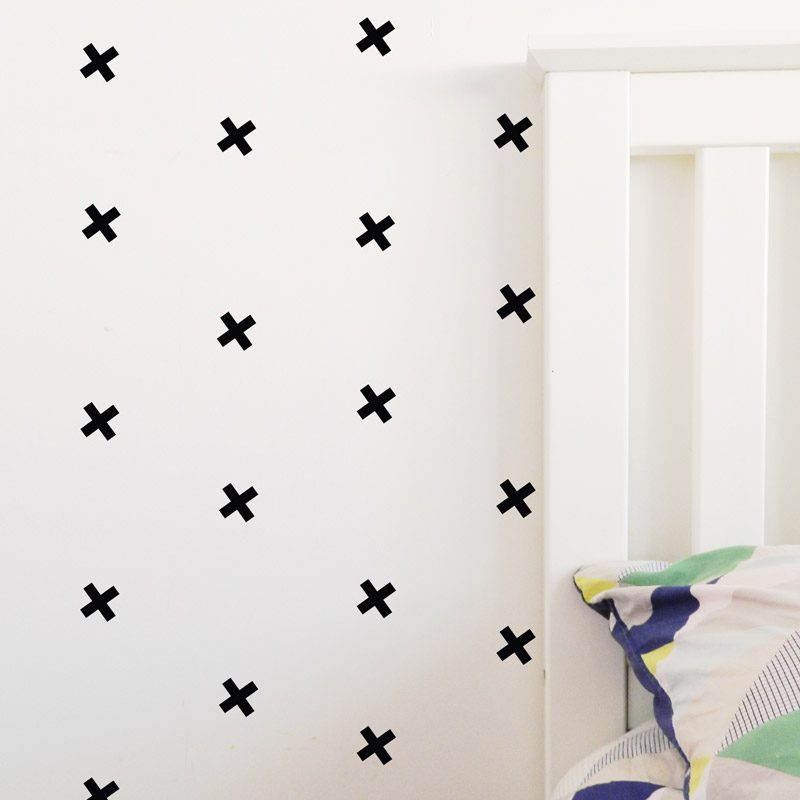 cross wall stickers black