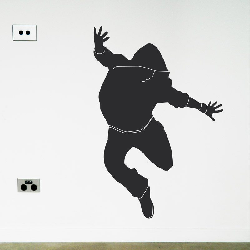Hip Hop Dancer Wall Sticker street dancer jumping wall decal