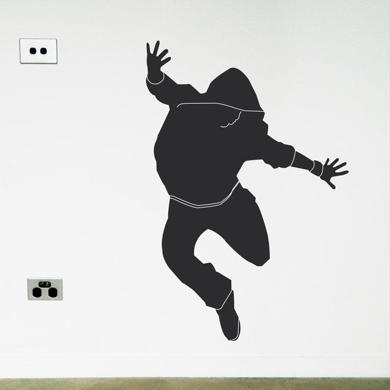 street dancer jumping wall decal