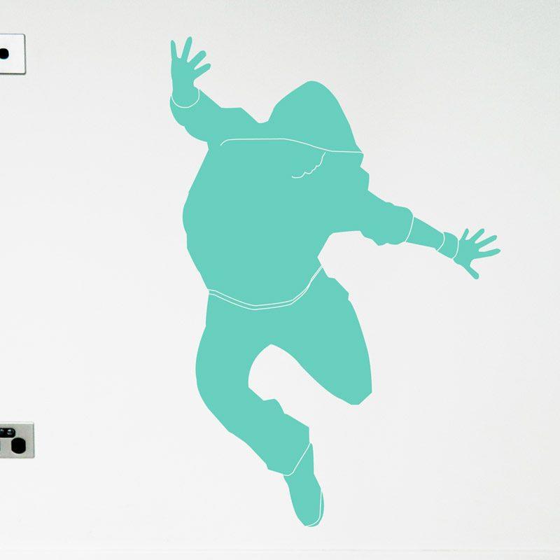 hip-hop dancer in hood wall decal