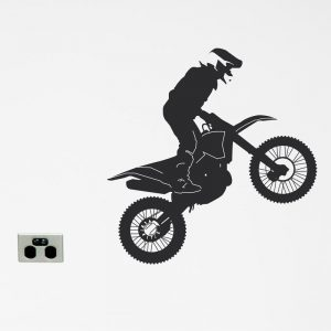 dirt bike wall sticker motor cross motorbike wall decl