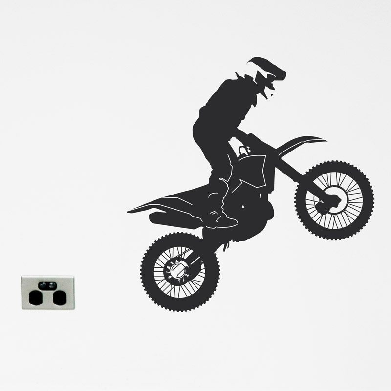 dirt bike wall sticker motor cross motorbike wall decl